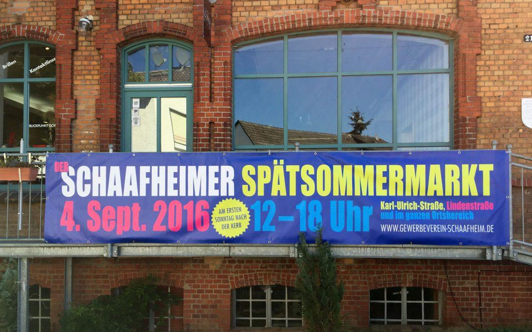 Es ist so weit: Der 1. Schaafheimer Spätsommermarkt startet Sonntag, 4.9.2016, um 12 Uhr