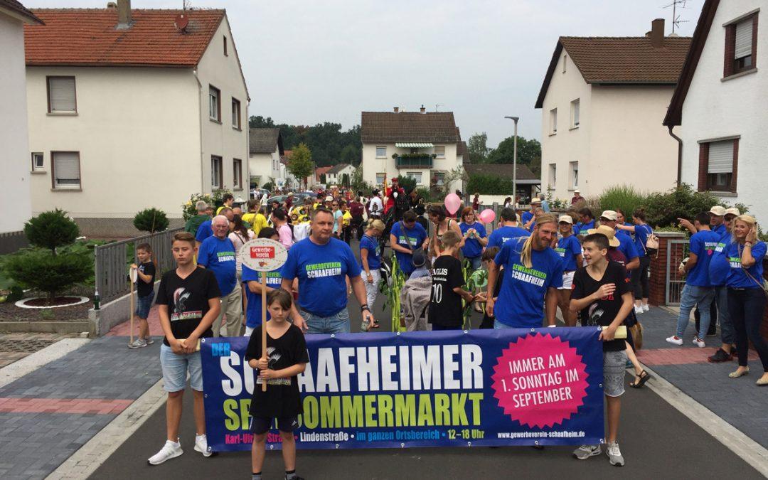 Jubiläumsfestzug durch Schaafheim – wir vom Gewerbeverein waren mit dabei